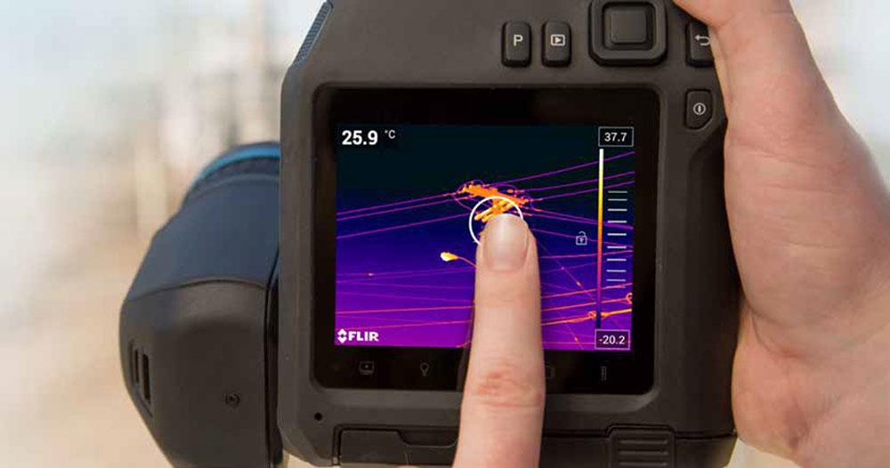 Spezielle Funktionen der Infrarot Wärmebildkamera FLIR E96