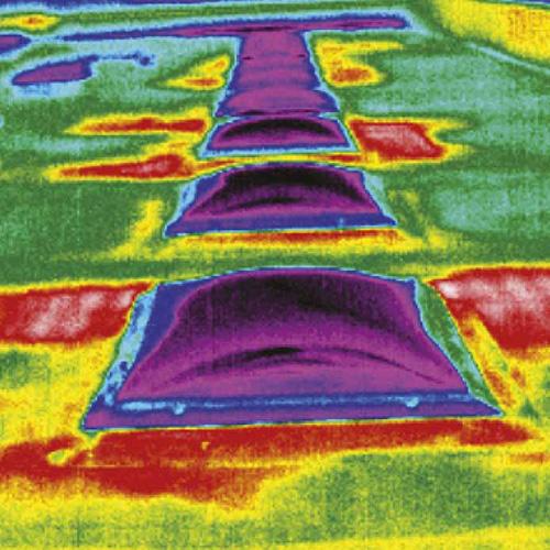Bauthermografie-Dachleckagen